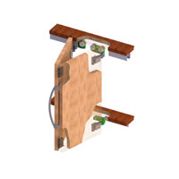 03 Mkk2 - 007 (2 Door Kit)Foldable Mechanism With Double Hinge  (for Wardrobe) 50 Kg Per Two Door Leaf