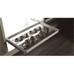 115900Soft Closing Chromed Iron Shoes Rack (900 Cabinet)