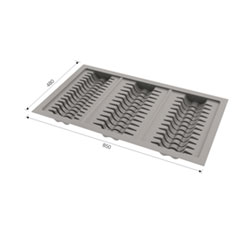 DP 9003Dish Plate 850 X 480mm Grey