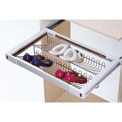 G1207A - 1Adjustable Pull - Out Shoes Rack With Silent Soft Closing (d468 X W864 X H165) (900 - 980 Mm)