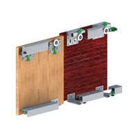 GM 10 - 1 (2 Door kit)Gm 10 - 1 Sliding System 50 Kg For 25mm Door Thickness Two Door Wardrobe