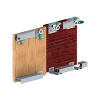 GM 10 - 1 (3 Door kit)Gm 10 - 1 Sliding System 50 Kg For 25mm Door Thickness Three Door Wardrobe