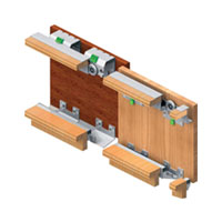 GM 10 -3 (2 Door kit)Gm 10 - 3 Sliding System 50 Kg For 18mm Door Thickness Two Door Wardrobe