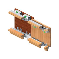 GM 10 -3 (3 Door kit)Gm 10 - 3 Sliding System 50 Kg For 18mm Door Thickness Three Door Wardrobe