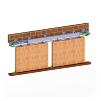 HSK 100  (2 Door Kit)Syncro Sliding For Wooden Doors Wt Capacity 100 Kg