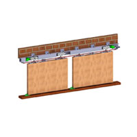 HSK 80  (2 Door Kit)Syncro Sliding For Wooden Doors Wt Capacity 80 Kg