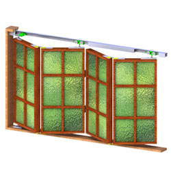 MKK-2B (4 Door Kit)Foldable-sliding System For 4 Partition Doors 40 Kg Per Two Door Leaf