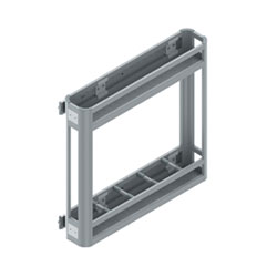 S-2806Aluminium Bottle Holder With Side Rail (carrying Capacity 45 Kg)110x500x470(anodising)