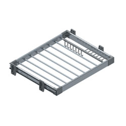 S-6208Aluminium Trouser Rack With Side Mounted Telescopic Rail 90cm Soft Closing 850-880x520x95
