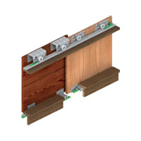 SGM 01 (2 Door Kit)Sgm 01 Sliding System For Two Door Wardrobe (door Weight 80 Kg)